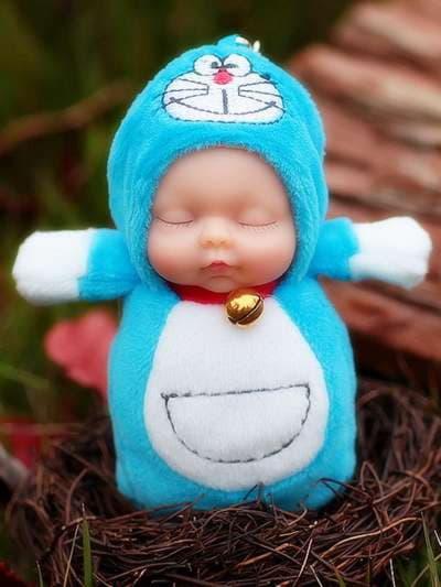 Брендовый брелок кукла плюшевая голубая. Фото товара, вид 3