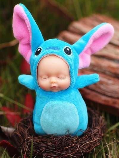 Молодежный брелок кукла плюшевая голубая длиные ушки. Фото товара, вид 3
