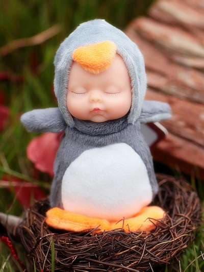 Брендовий брелок лялька плюшева сірий. Фото товару, вид 3