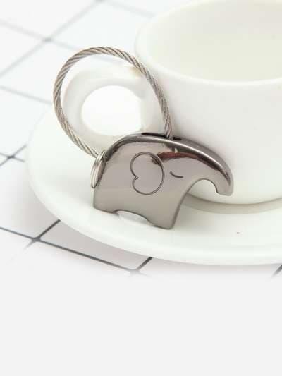 Модный брелок слоник блэк-никель. Фото товара, вид 3