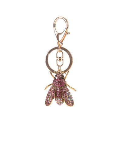 Молодежный брелок муха со стразами розовая. Фото товара, вид 1_product-ru