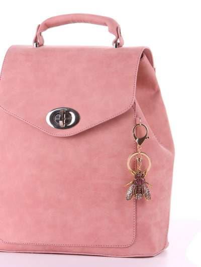 Молодежный брелок муха со стразами розовая. Фото товара, вид 2