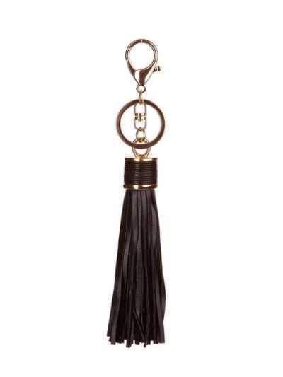 Модный брелок кожаная черная подвеска. Фото товара, вид 1