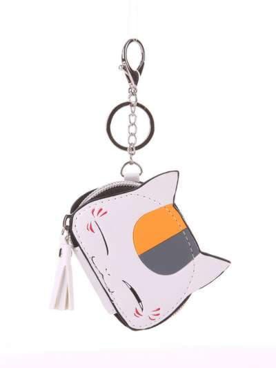 Стильный брелок мини сумочка кошка с ушками белая. Фото товара, вид 1