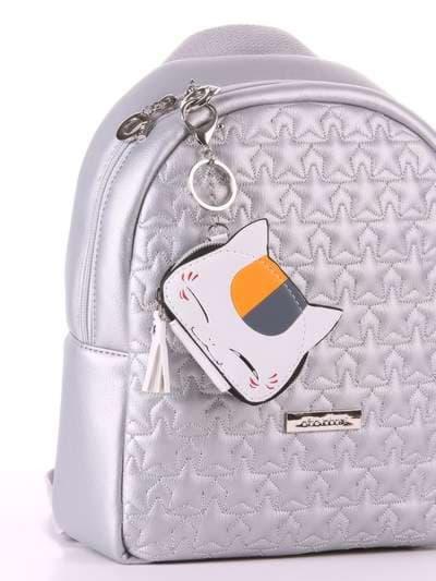 Стильный брелок мини сумочка кошка с ушками белая. Фото товара, вид 2