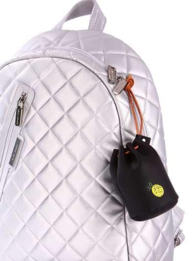 Модний брелок міні сумочка зі шнурком чорний. Фото товару, вид 2