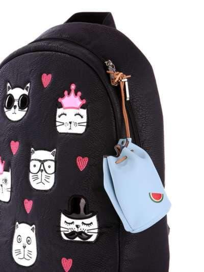 Молодіжний брелок міні сумочка зі шнурком блакитний. Фото товару, вид 2