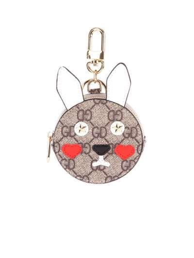 Стильный брелок мини сумочка заяц серая. Фото товара, вид 1