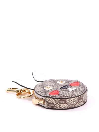 Стильный брелок мини сумочка заяц серая. Фото товара, вид 2