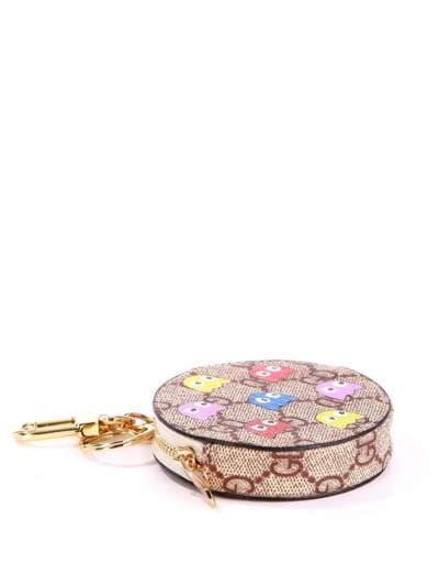 Модний брелок міні сумочка з осміногами коричневий. Фото товару, вид 1