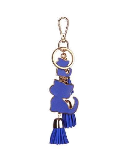 Стильный брелок подвеска синяя с кошками. Фото товара, вид 1