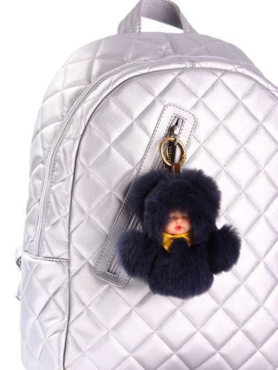Стильный брелок кукла в меху черная. Фото товара, вид 2
