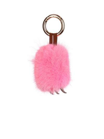 Молодіжний брелок підвіска лапа рожевий. Фото товару, вид 1