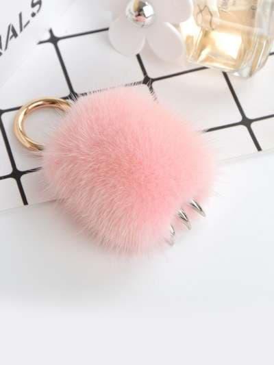 Молодіжний брелок підвіска лапа рожевий. Фото товару, вид 3