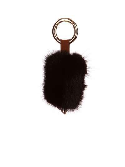Брендовий брелок підвіска лапа чорний. Фото товару, вид 1