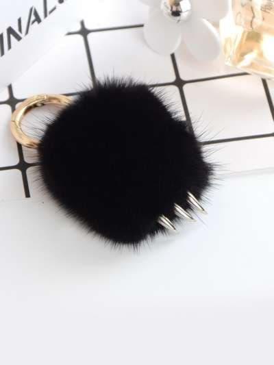 Брендовий брелок підвіска лапа чорний. Фото товару, вид 3