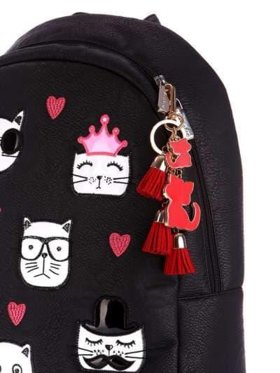 Стильный брелок подвеска красная с кошками. Фото товара, вид 2