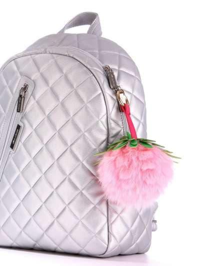 Модний брелок шар ананас великий рожевий. Фото товару, вид 2
