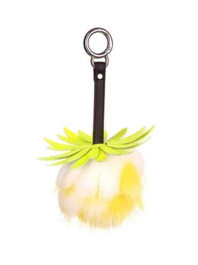 Стильний брелок шар ананас маленький жовтий. Фото товару, вид 1