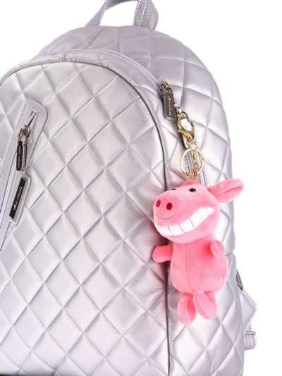 Стильный брелок мягкая игрушка улыбающийся поросенок розовая. Фото товара, вид 2