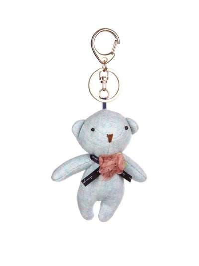 Стильний брелок м'яка іграшка ведмедик блакитний. Фото товару, вид 1