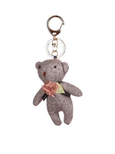 Стильный брелок мягкая игрушка мишка серый. Фото товара, вид 1