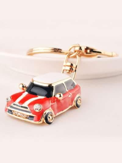 Молодежный брелок автомобиль mini красный. Фото товара, вид 3