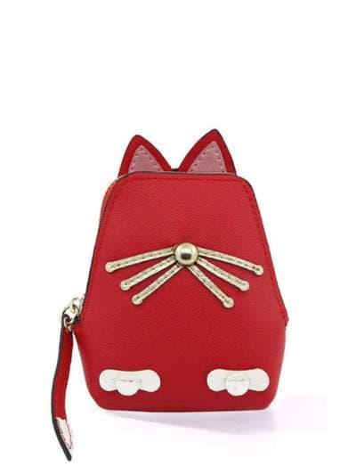 Брендовый брелок кошелек кошка с усами красный. Фото товара, вид 1_product-ru