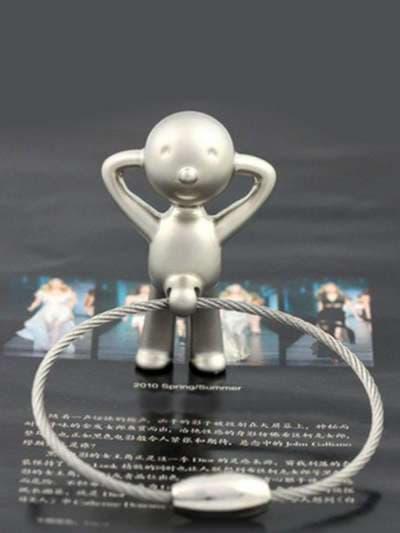 Брендовый брелок забавный мистер пэт с кольцом никель. Фото товара, вид 1_product-ru