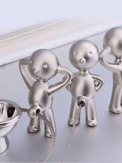 Брендовый брелок забавный мистер пэт с кольцом никель. Фото товара, вид 2