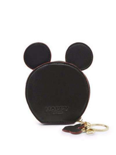 Брендовый брелок кошелек с ушками черный. Фото товара, вид 1