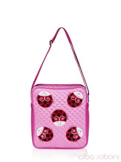 Стильная детская сумочка, модель 0311 розовый. Фото товара, вид спереди._product-ru