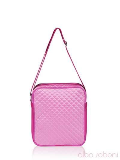 Стильная детская сумочка, модель 0311 розовый. Фото товара, вид сзади.