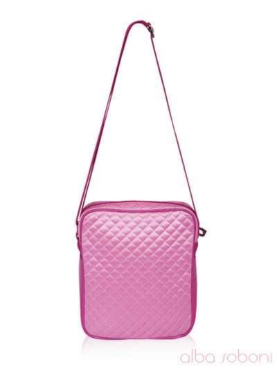 Стильная детская сумочка, модель 0314 розовый. Фото товара, вид сзади.
