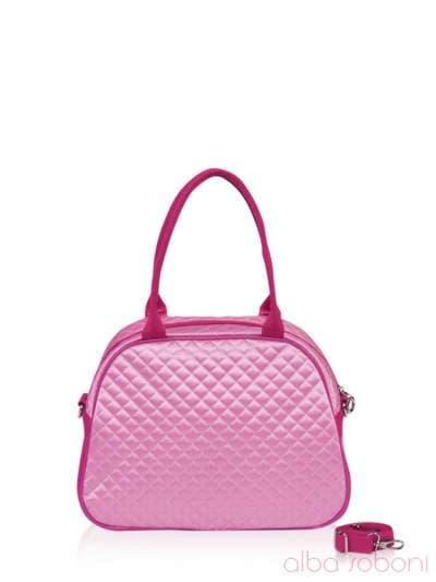 Стильная детская сумочка, модель 0323 розовый. Фото товара, вид сзади.