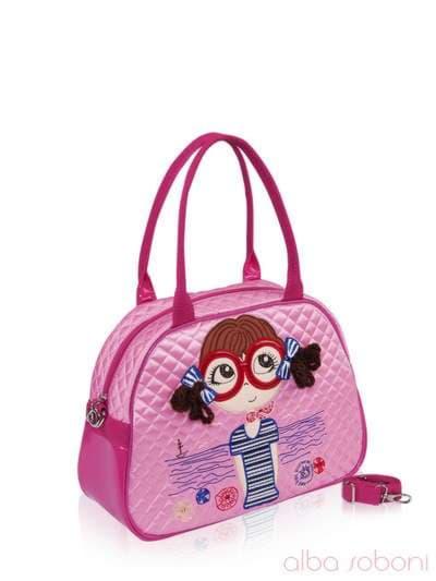 Стильная детская сумочка, модель 0325 розовый. Фото товара, вид сбоку.