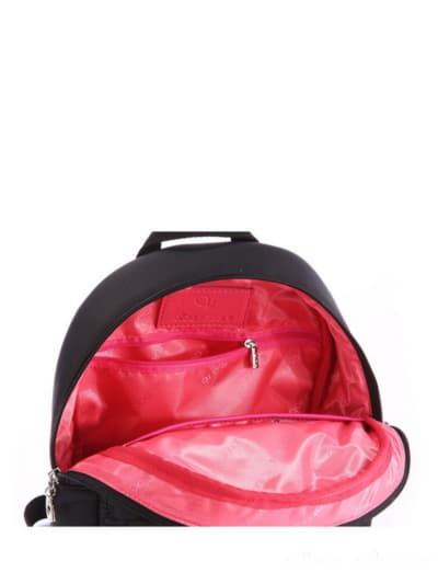Стильный детский рюкзак, модель 0610 черный. Фото товара, вид дополнительный.