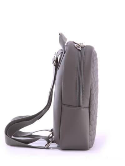 alba soboni. Дитячий рюкзак 0611 сірий. Вид 3.