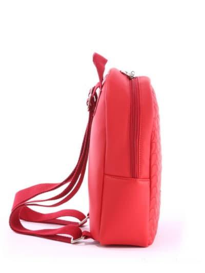 Стильный детский рюкзак, модель 0612 красный. Фото товара, вид сзади.