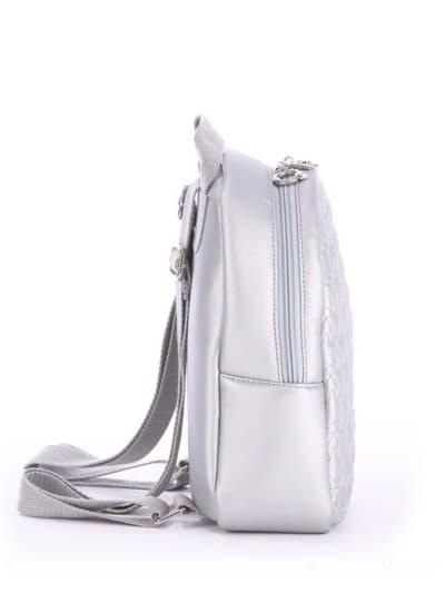 alba soboni. Дитячий рюкзак 0615 срібло. Вид 3.