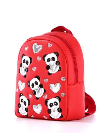 Стильный детский рюкзак, модель 1832 красный. Фото товара, вид сбоку.