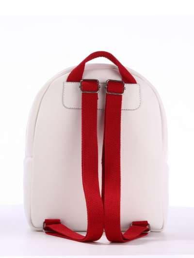 Стильный детский рюкзак, модель 1834 белый. Фото товара, вид сзади.