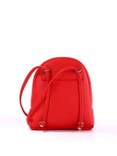 Стильный детский рюкзак, модель 1842 красный. Фото товара, вид сзади.