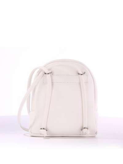 Стильный детский рюкзак, модель 1844 белый. Фото товара, вид сзади.