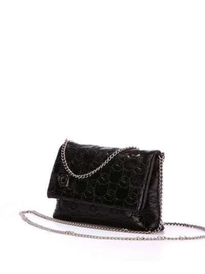Стильная детская сумочка, модель 1821 черный. Фото товара, вид сбоку.