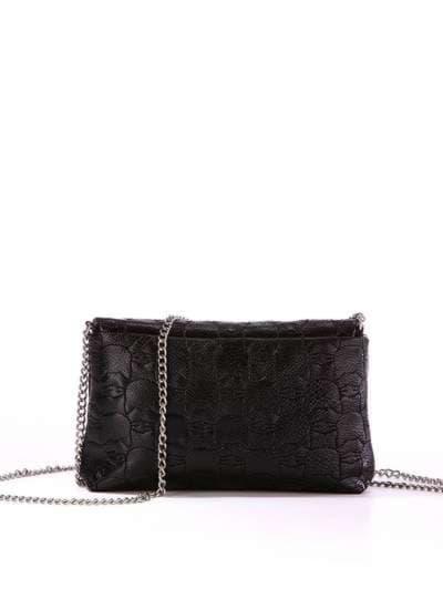 Стильная детская сумочка, модель 1821 черный. Фото товара, вид сзади.
