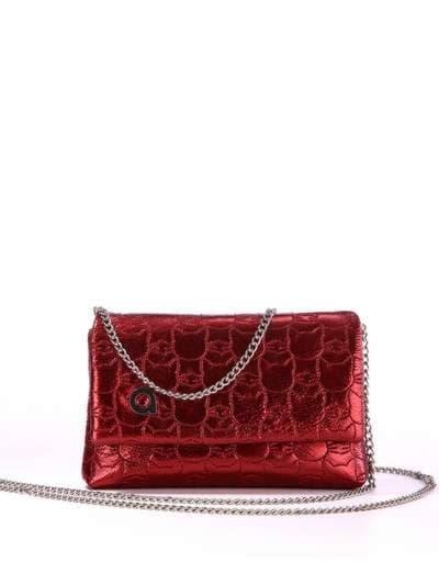 Стильная детская сумочка, модель 1825 бордо. Фото товара, вид спереди.