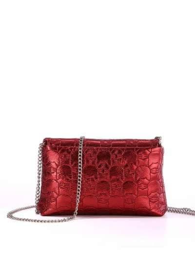 Стильная детская сумочка, модель 1825 бордо. Фото товара, вид сзади.