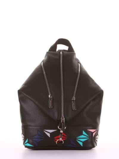 Женский рюкзак, модель 181401 черный. Фото товара, вид сбоку._product-ru