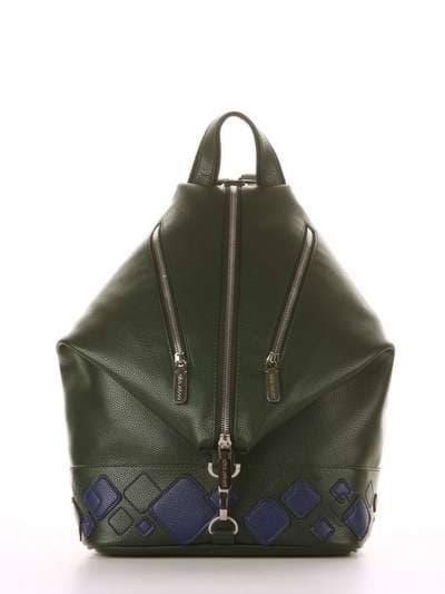 Брендовый рюкзак, модель 181403 темно-зеленый. Фото товара, вид сбоку.
